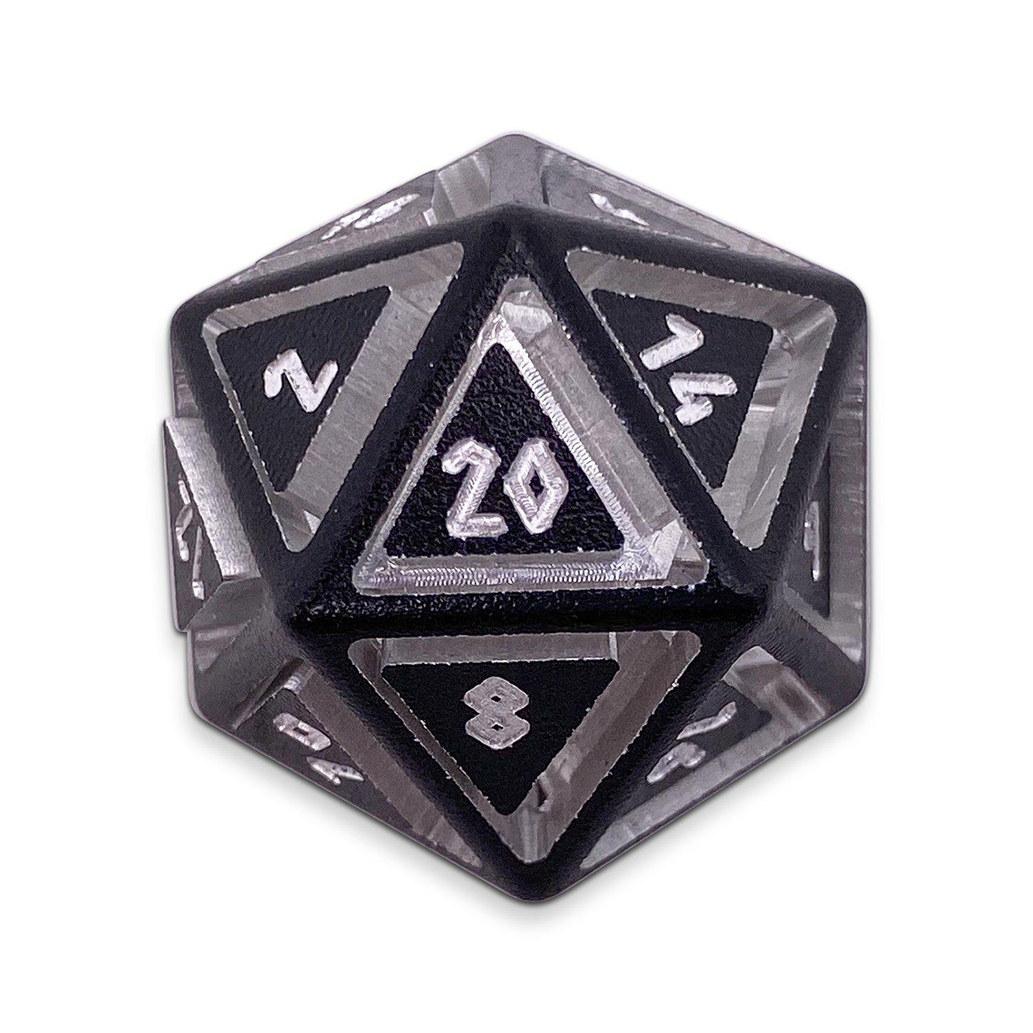 Nimbus Precision CNC Aluminum D20 Single Norse Font - Night Black
