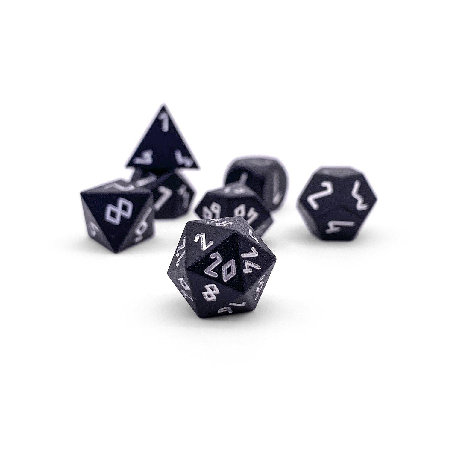 Night Black Pebble ™ Dice - 10mm 6063 Aircraft Grade Aluminum Mini