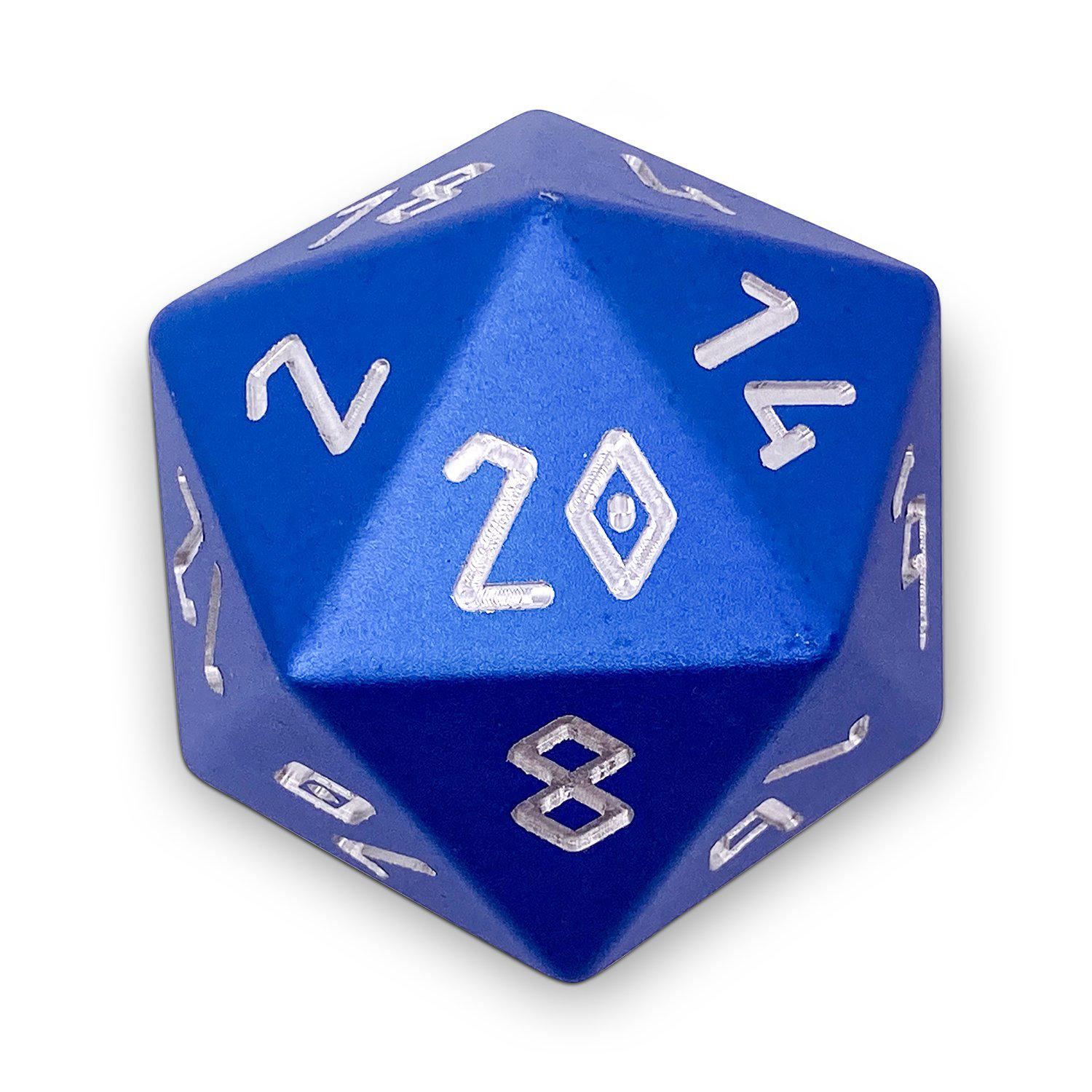 Noble Blue - Precision Boulder® 55mm D20 6063 Aircraft Grade Aluminum Metal Die