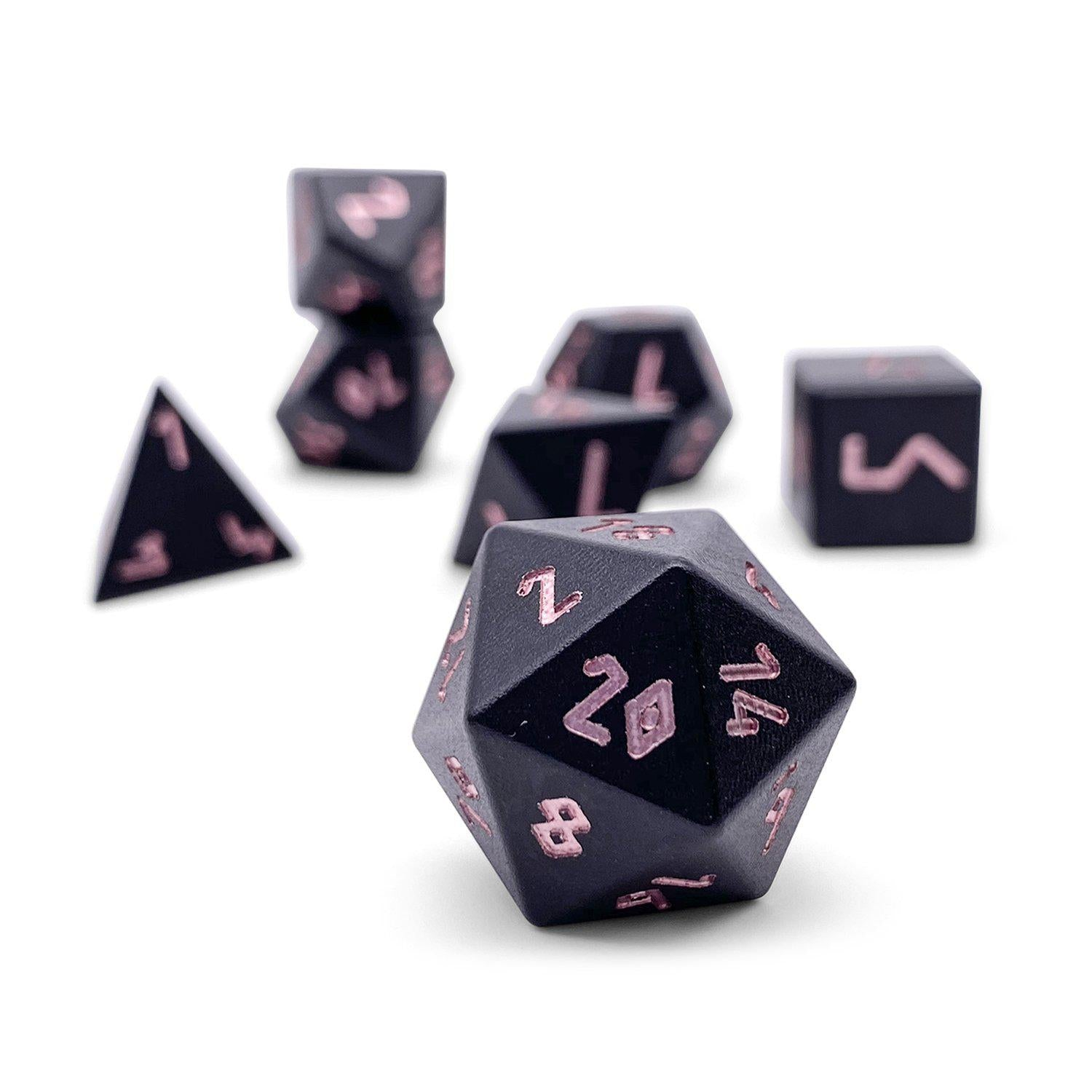 Orb of Annihilation - Wondrous Dice Set of 7 RPG Dice by Norse Foundry Precision Polyhedral Dice Set