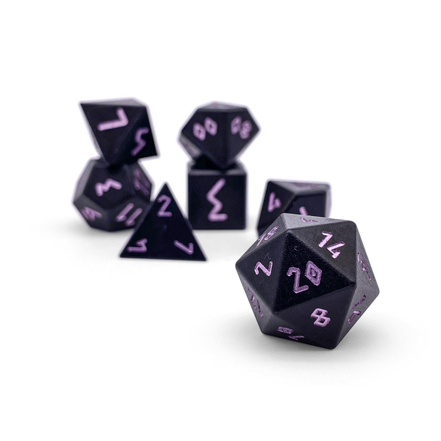 Orb Series - Orb of Paralysis - Set of 7 RPG Dice by Norse Foundry Precision Polyhedral Dice Set