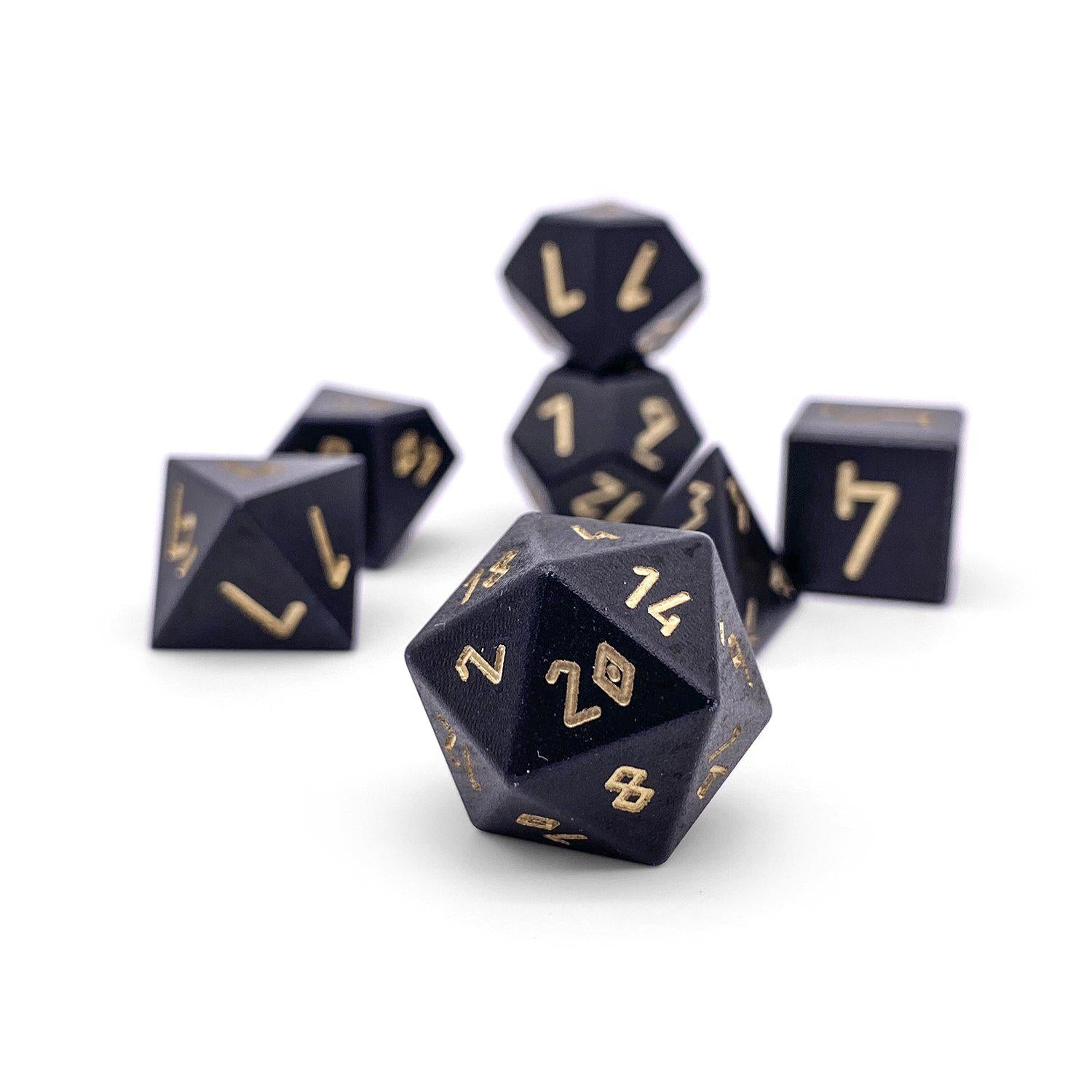 Orb Series - Orb of Disintegration - Set of 7 RPG Dice by Norse Foundry Precision Polyhedral Dice Set