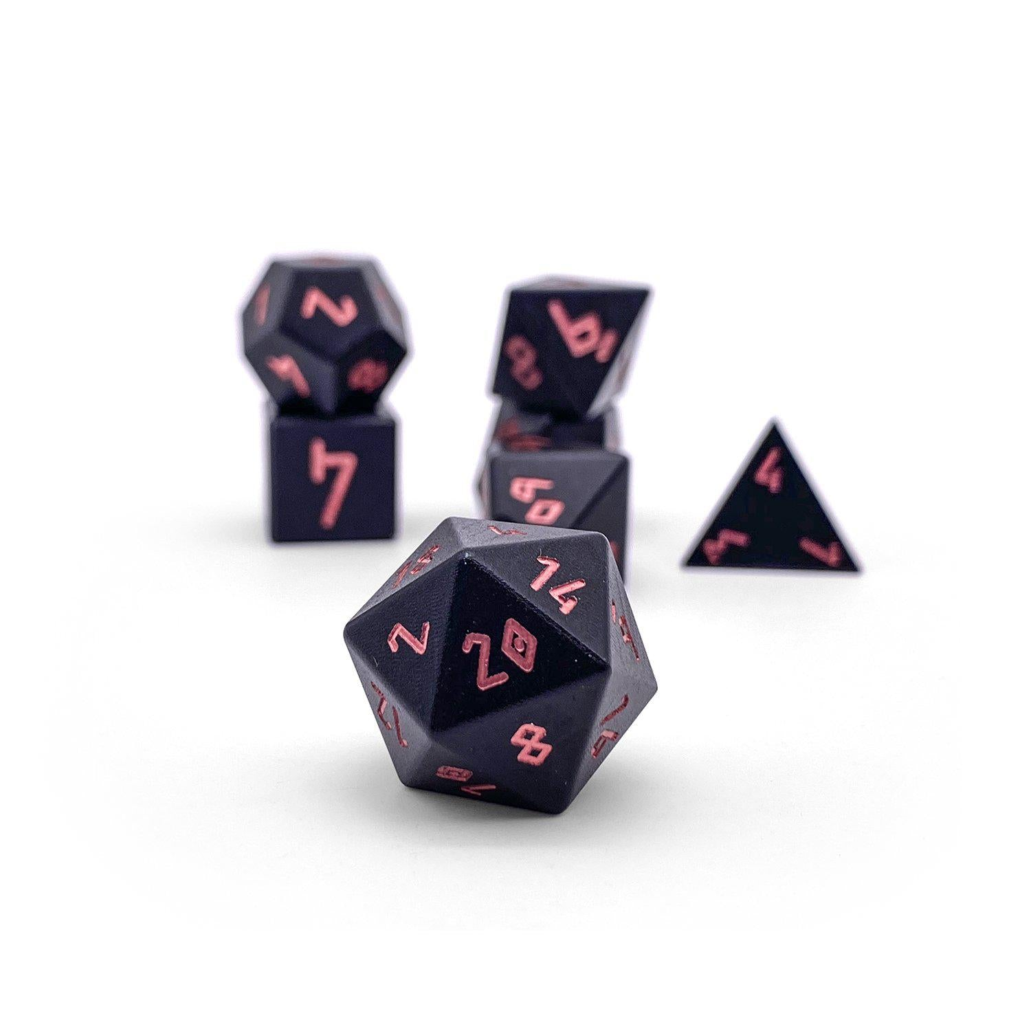 Orb Series - Orb of Fire - Set of 7 RPG Dice by Norse Foundry Precision Polyhedral Dice Set