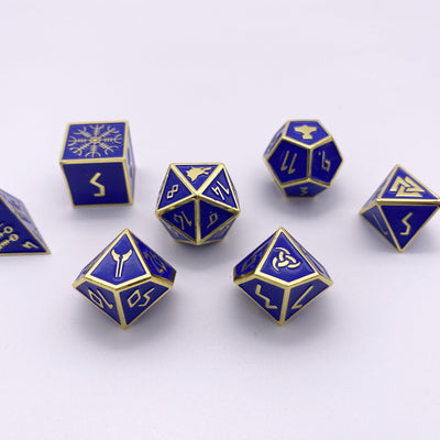 Paladins Oath - Norse Themed Metal Dice Set