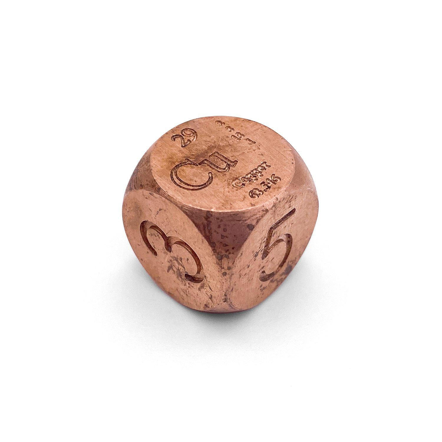 Real Copper D6 Dice by Norse Foundry