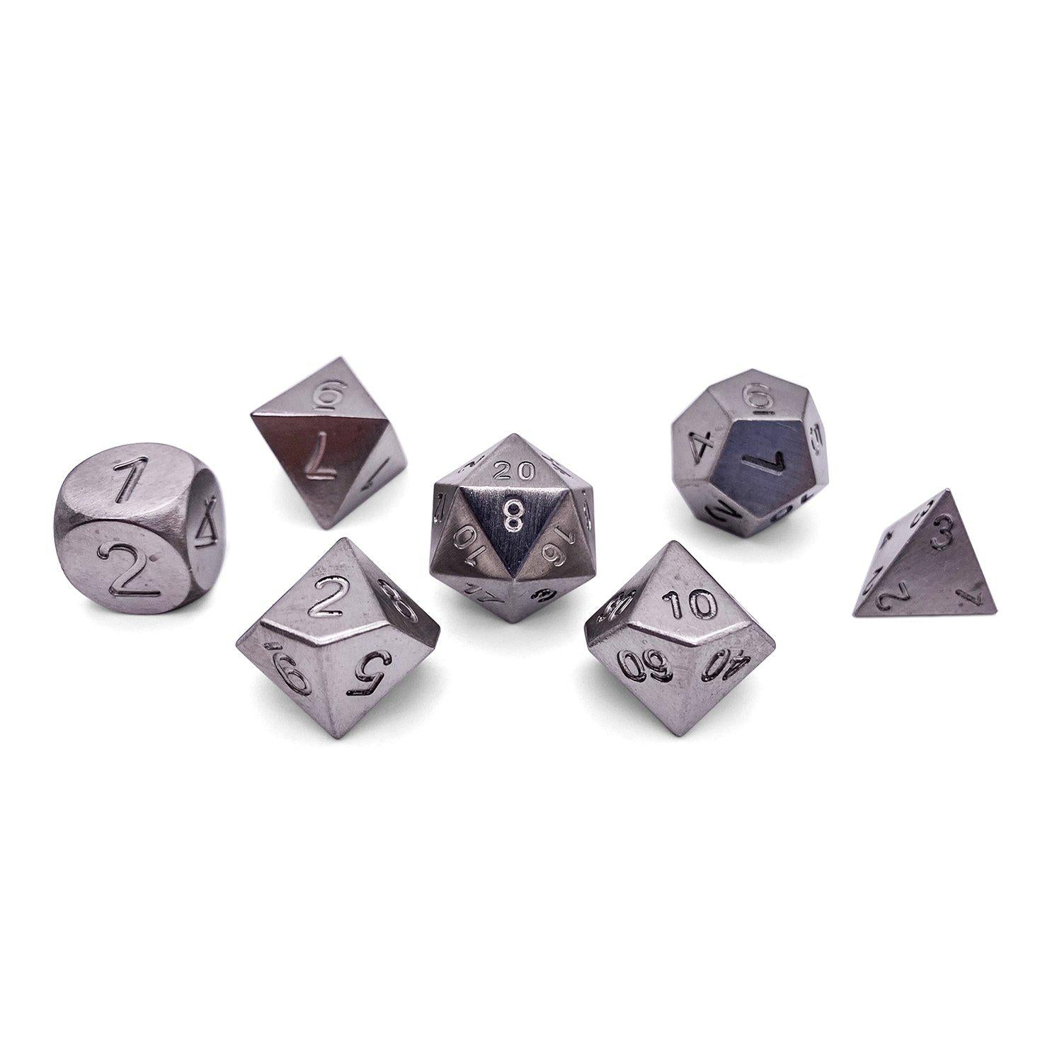 16mm Norse Foundry Tungsten Polyhedral Dice Set Norse foundry boulder and metal dice: norse foundry