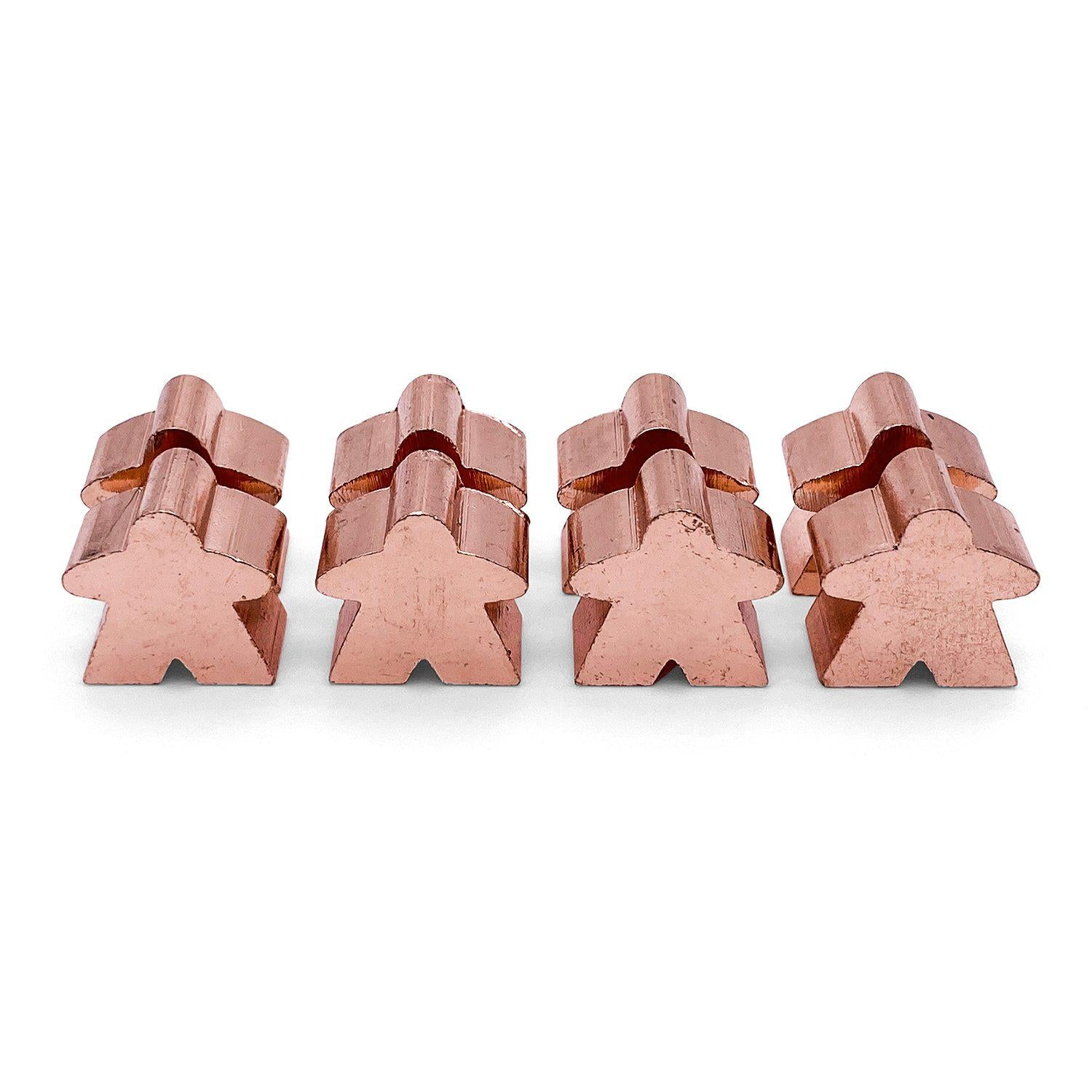 8 Pack of Shiny Copper Metal Meeples by Norse Foundry