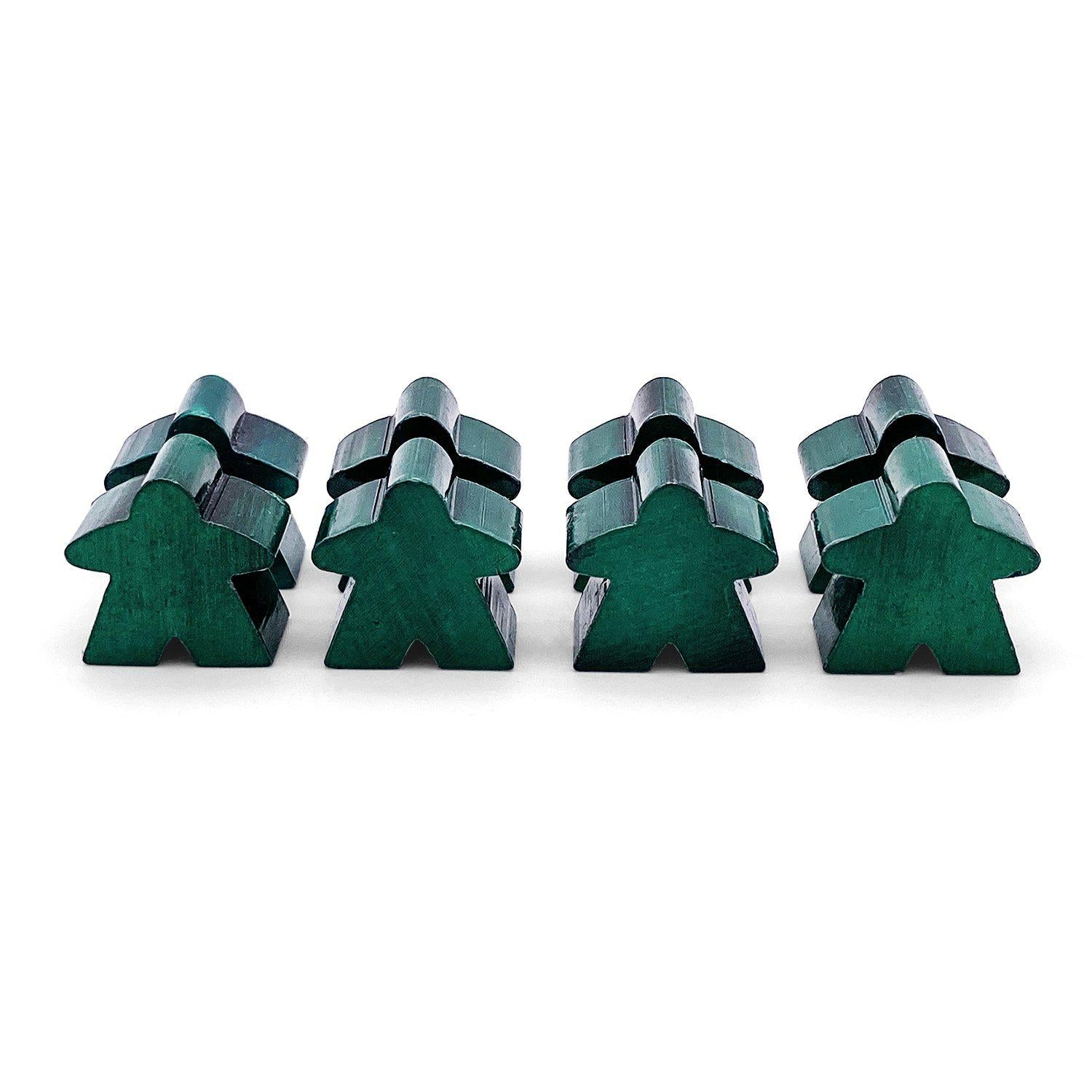 8 Pack of Green Metal Meeples by Norse Foundry