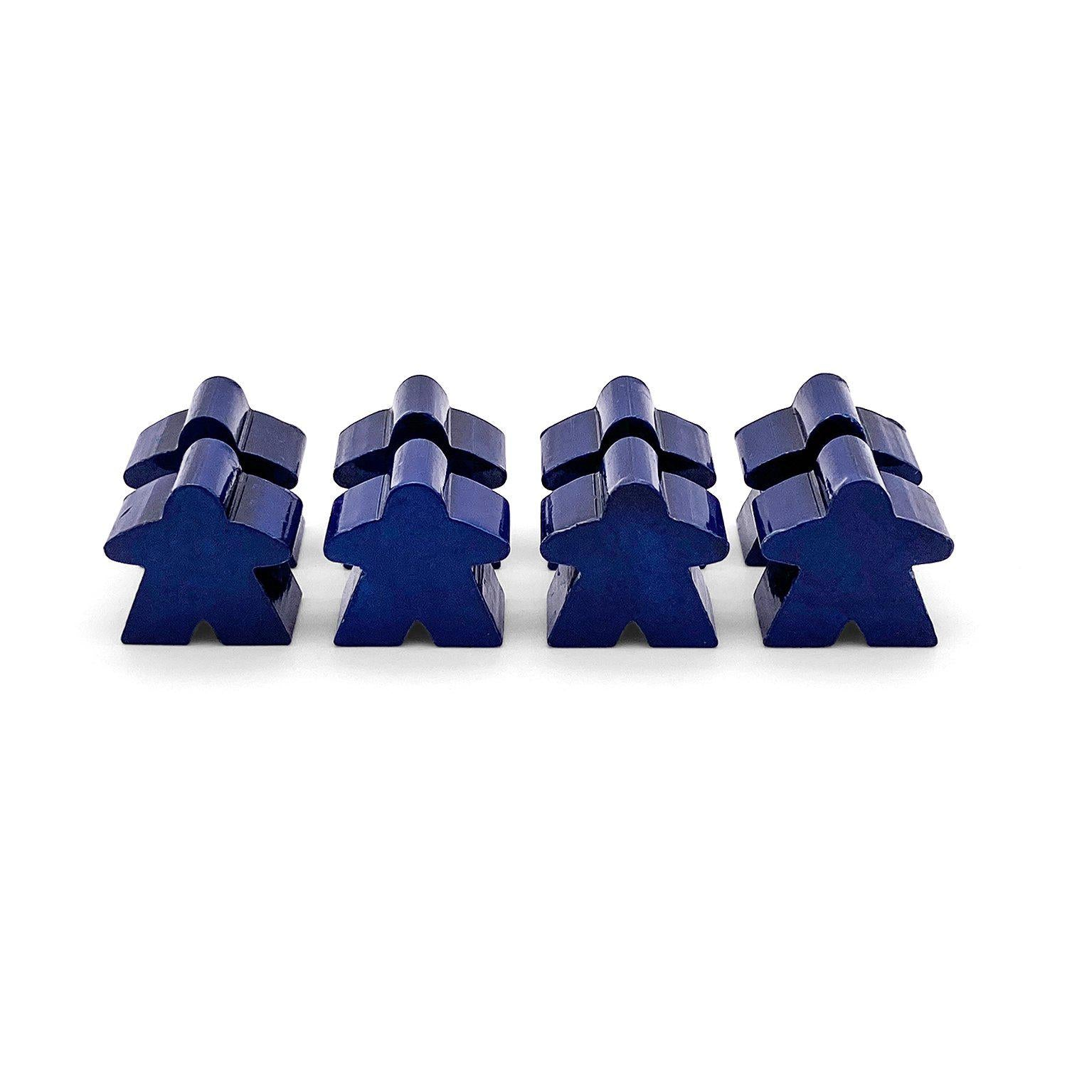 8 Pack of Blue Metal Meeples by Norse Foundry