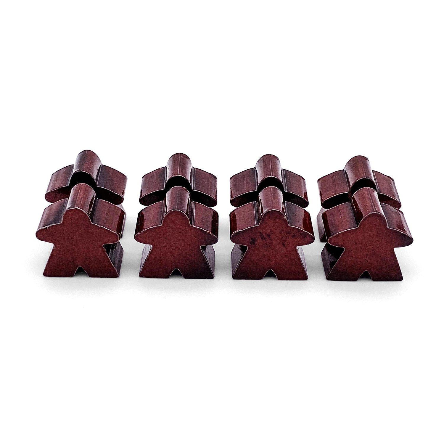 8 Pack of Red Metal Meeples by Norse Foundry