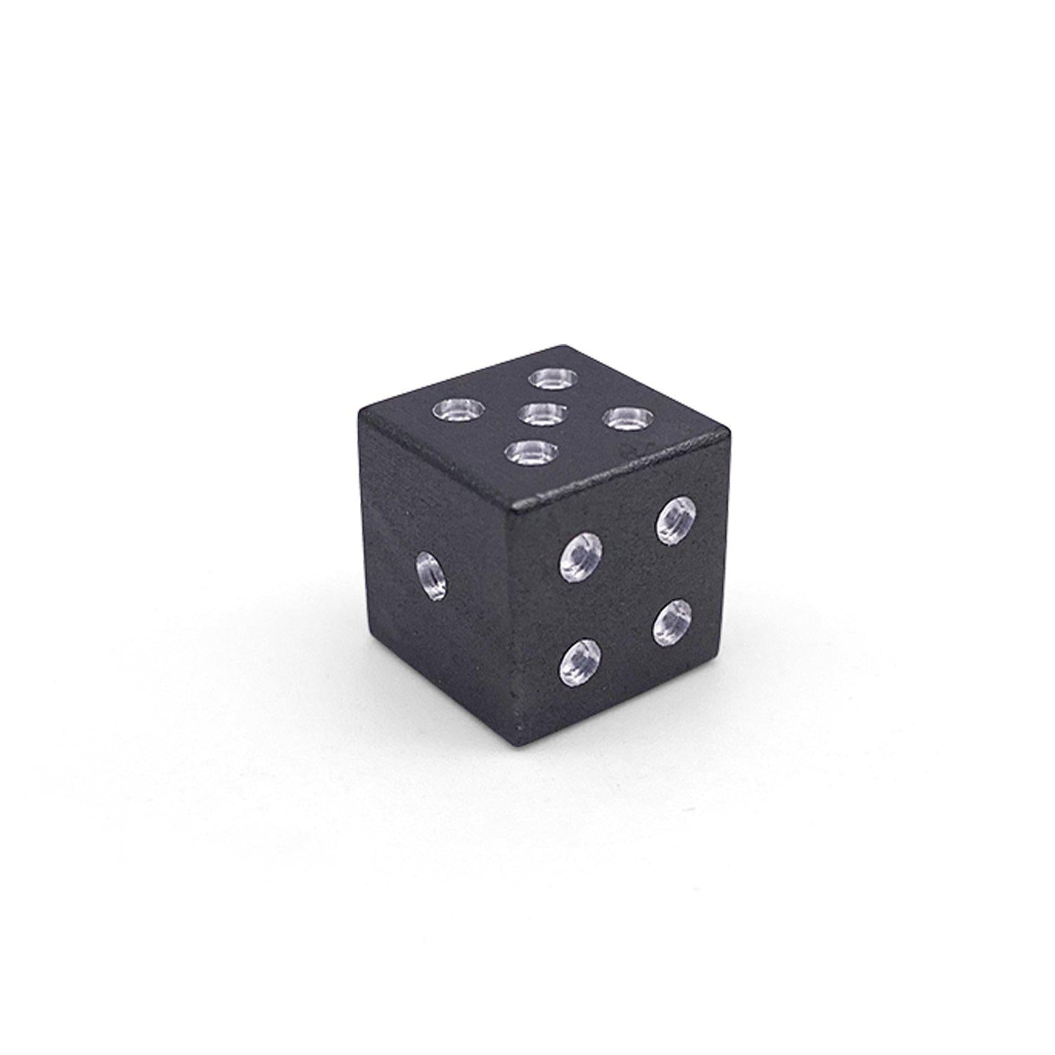 Single Aluminum D6 Mini - Straight Edges - Night Black