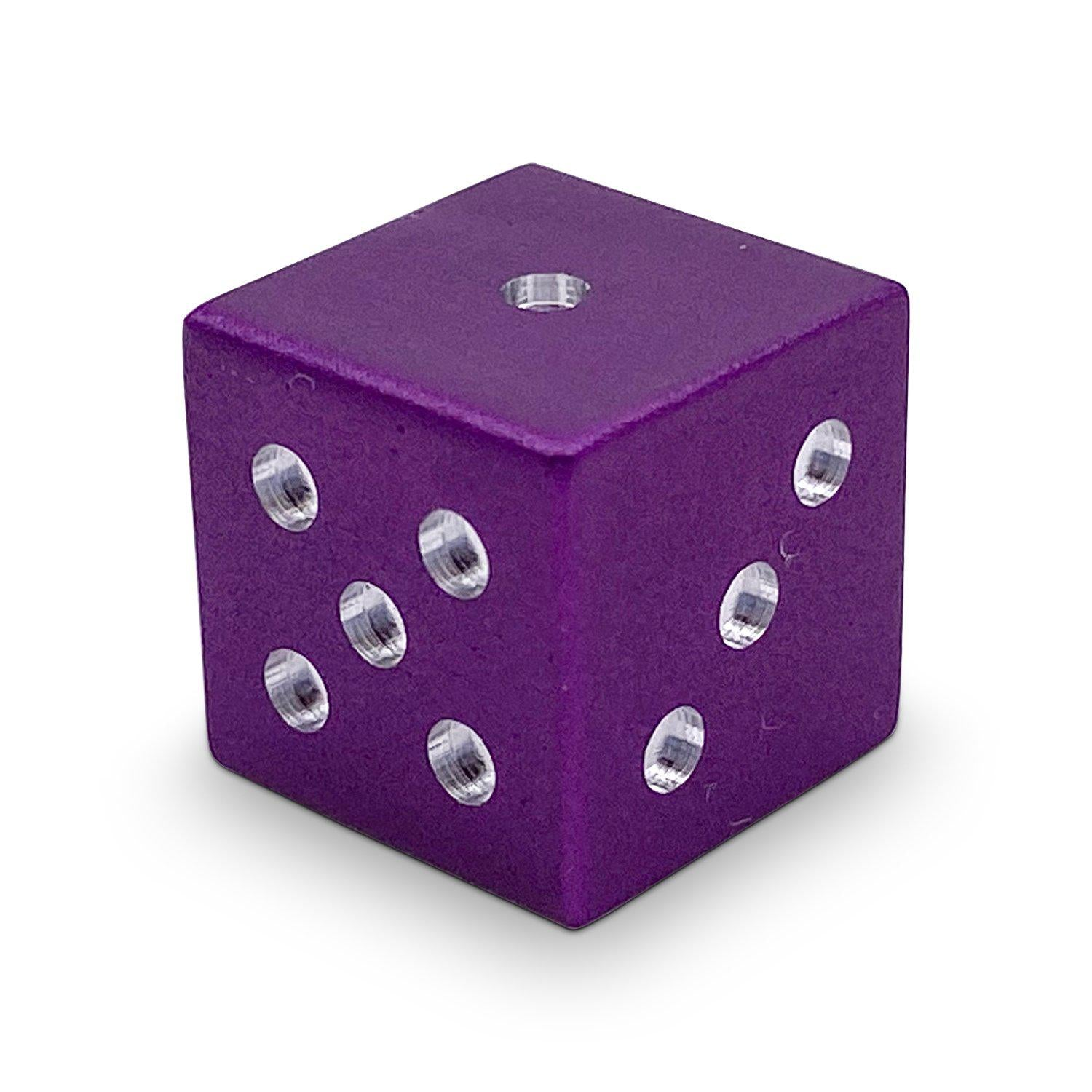 Single Aluminum D6 Mini - Straight Edges - Lich Purple