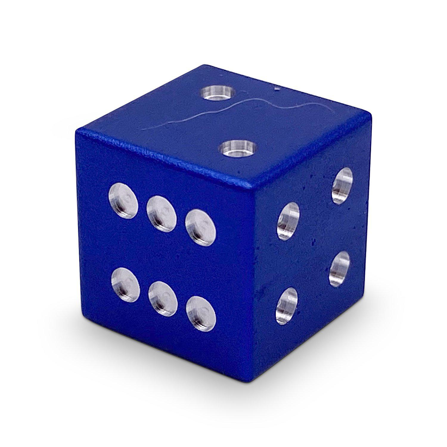 Single Aluminum D6 Mini - Straight Edges - Noble Blue