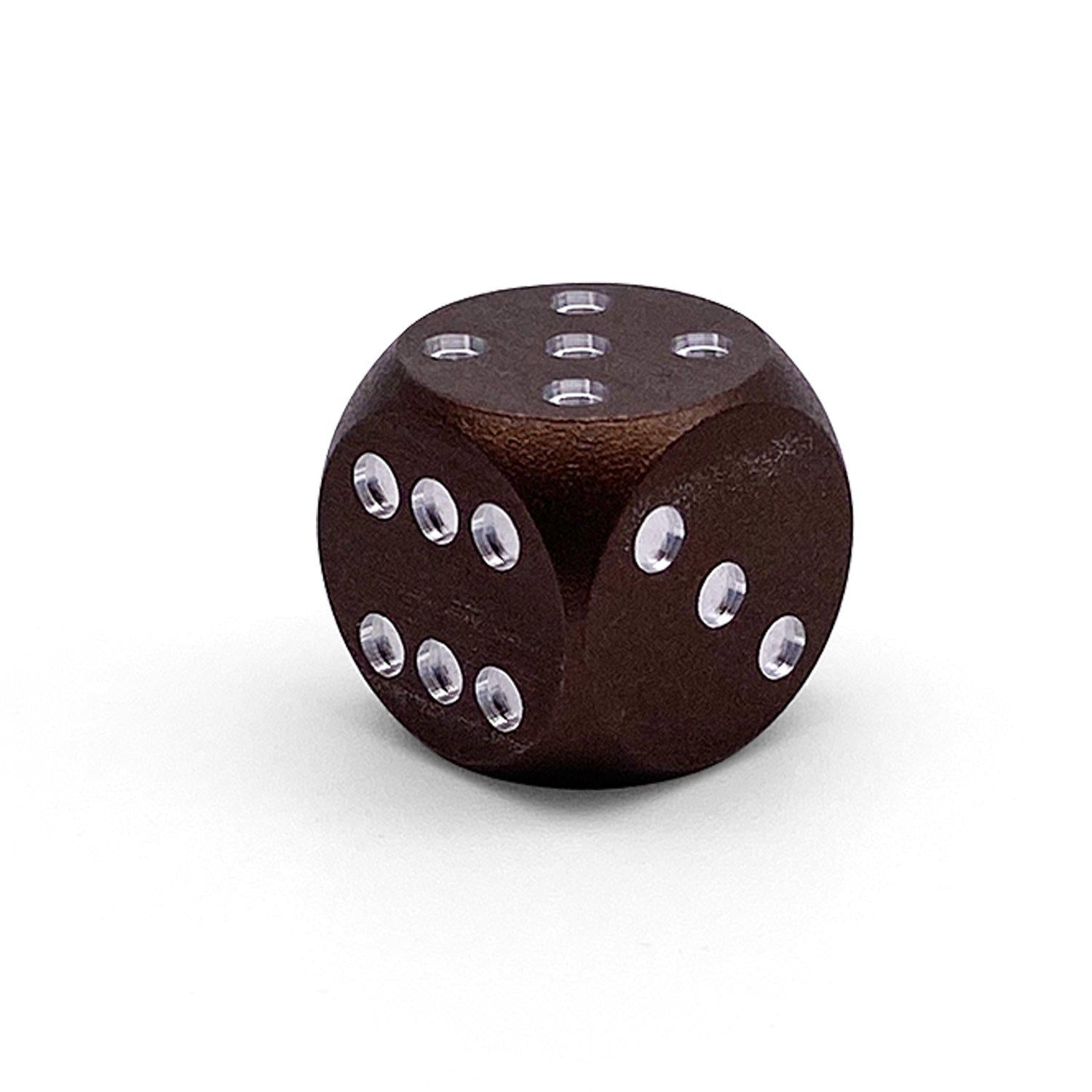 Single Aluminum D6 Mini - Round Edges - Leather Brown