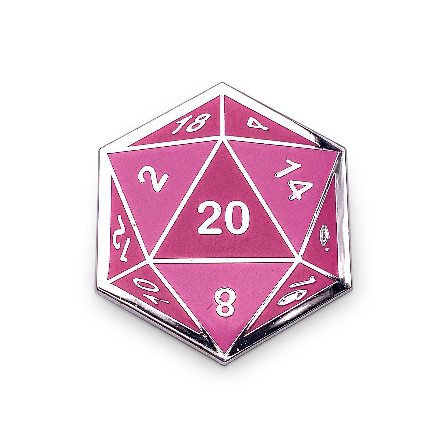 D20 Dice Die - Hard Enamel Adventure Dice Pin Metal by Norse Foundry