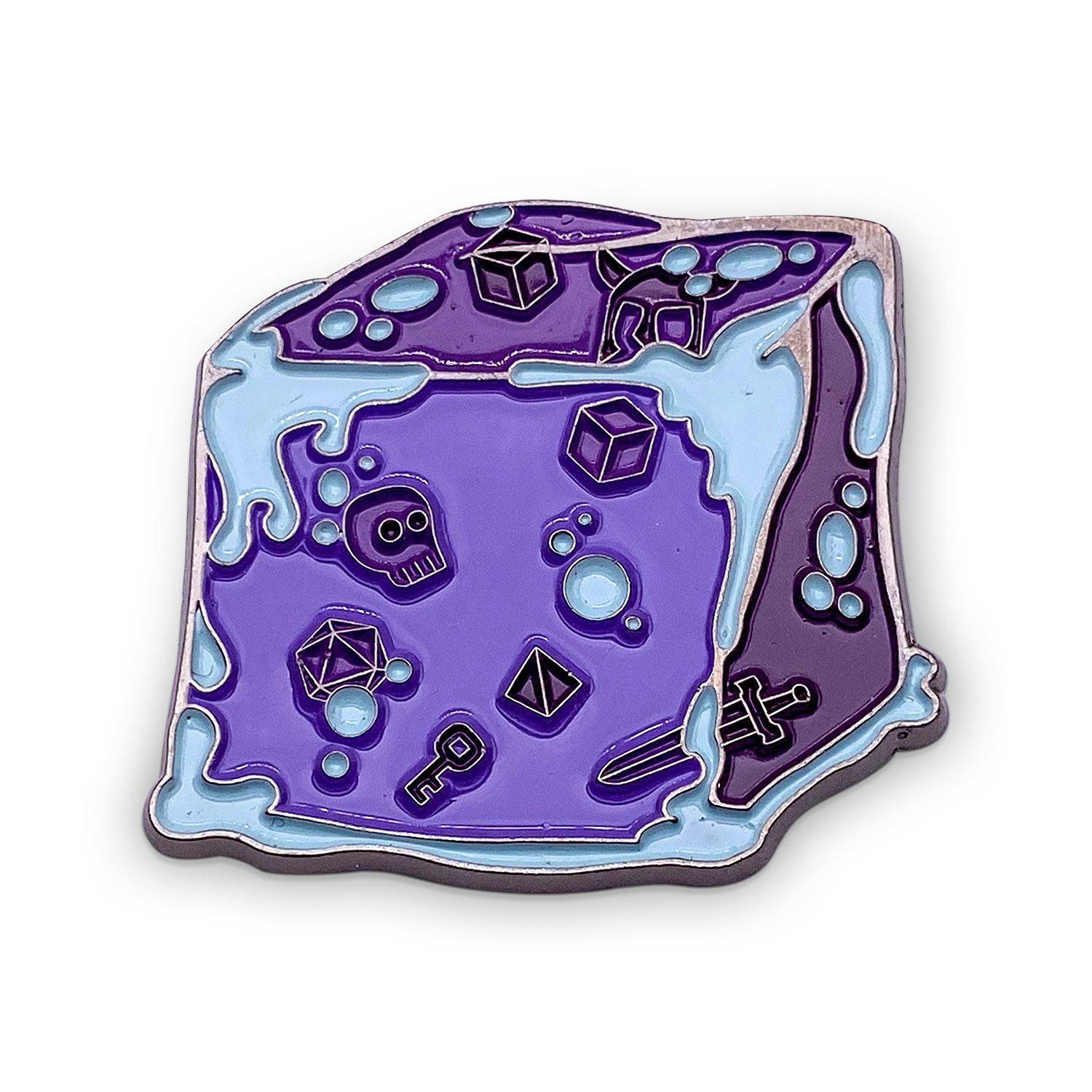 Gelatinous Cube - Hard Enamel Adventure Dice Pin Metal by Norse Foundry