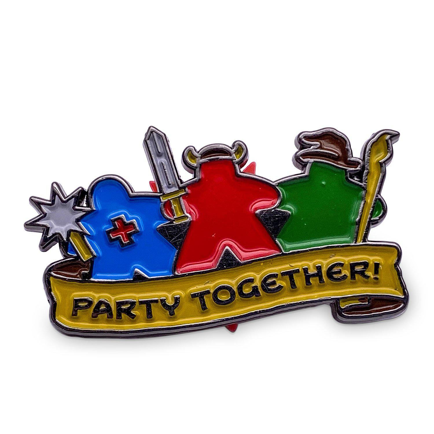 Party Together - Hard Enamel Adventure Pin Metal by Norse Foundry