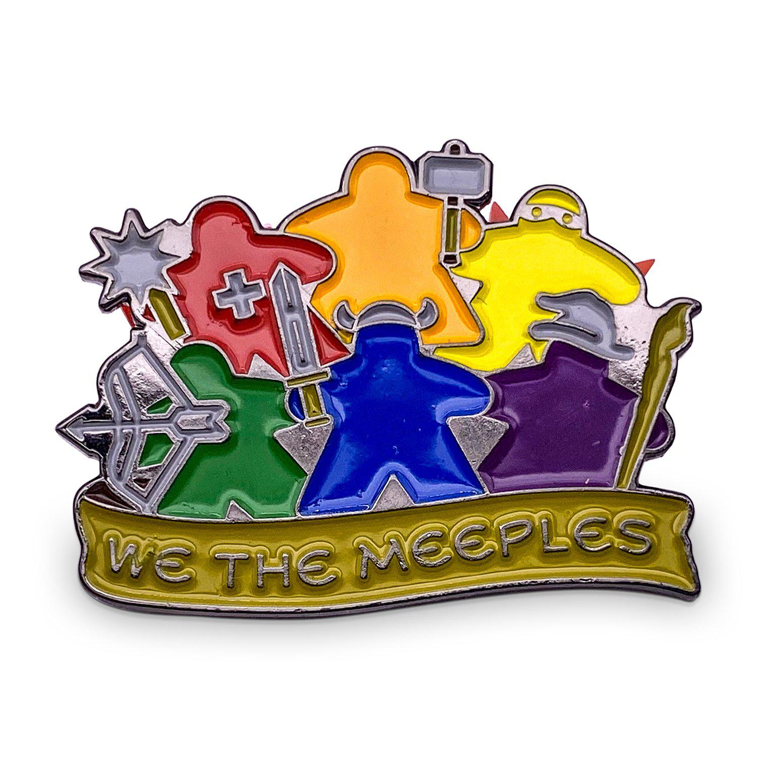 We the Meeples - Hard Enamel Adventure Pin Metal by Norse Foundry