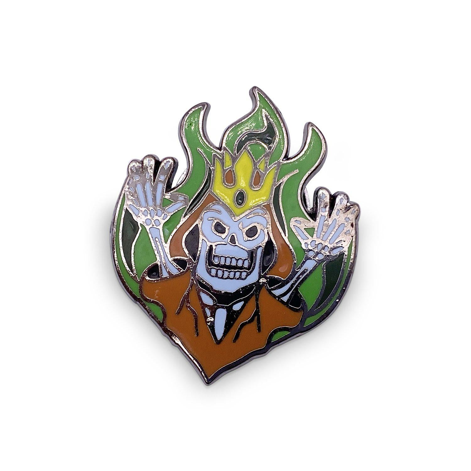 Lich - Hard Enamel Adventure Dice Pin Metal by Norse Foundry
