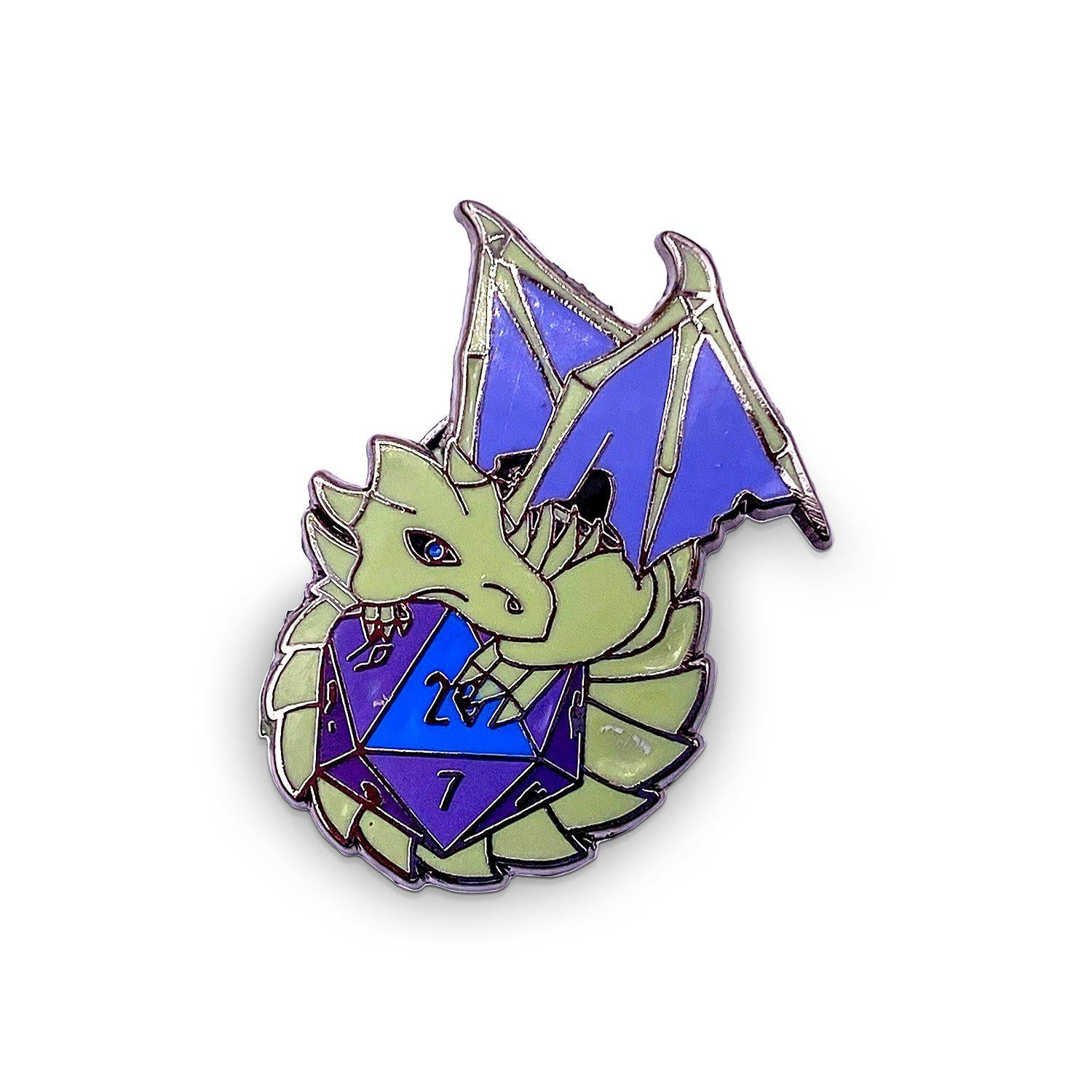 Dracolich - Hard Enamel Adventure Dice Pin Metal by Norse Foundry