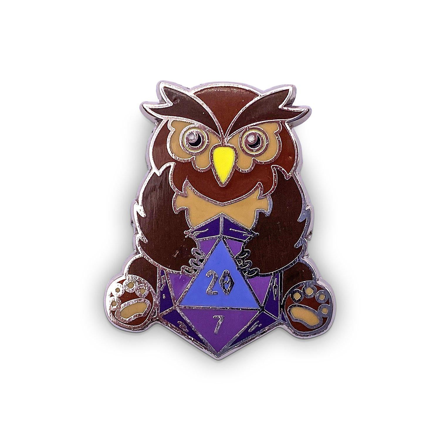 Owlbear - Hard Enamel Adventure Dice Pin Metal by Norse Foundry