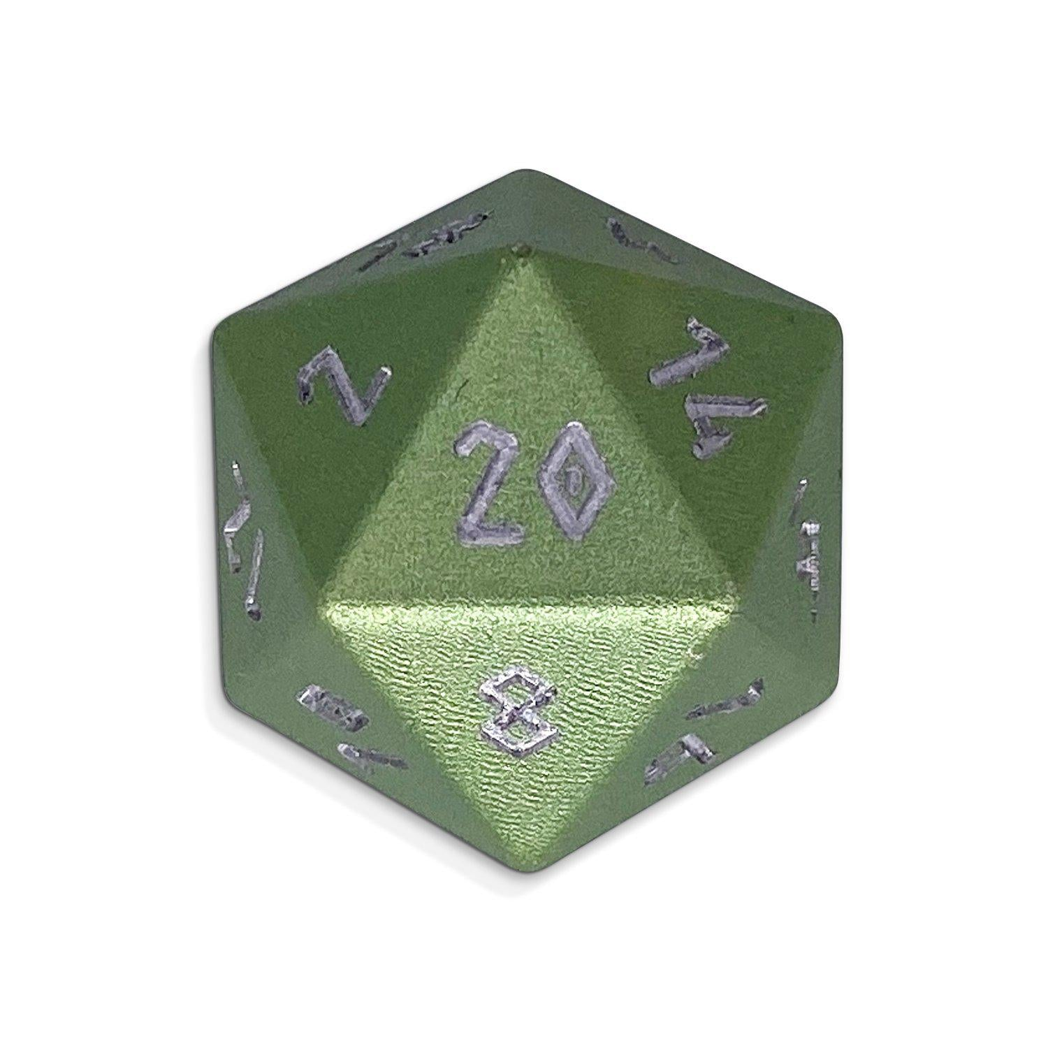 Ranger Green - Single D20 - Aluminum Dice