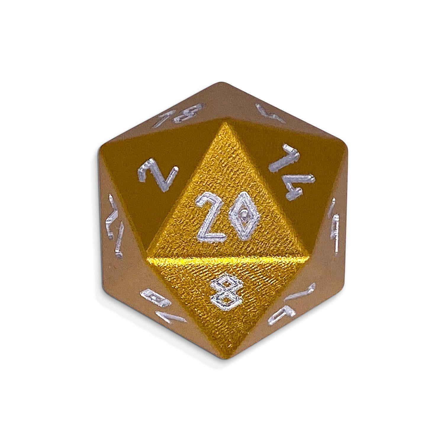 Gold Coin - D20 Single - Aluminum Dice