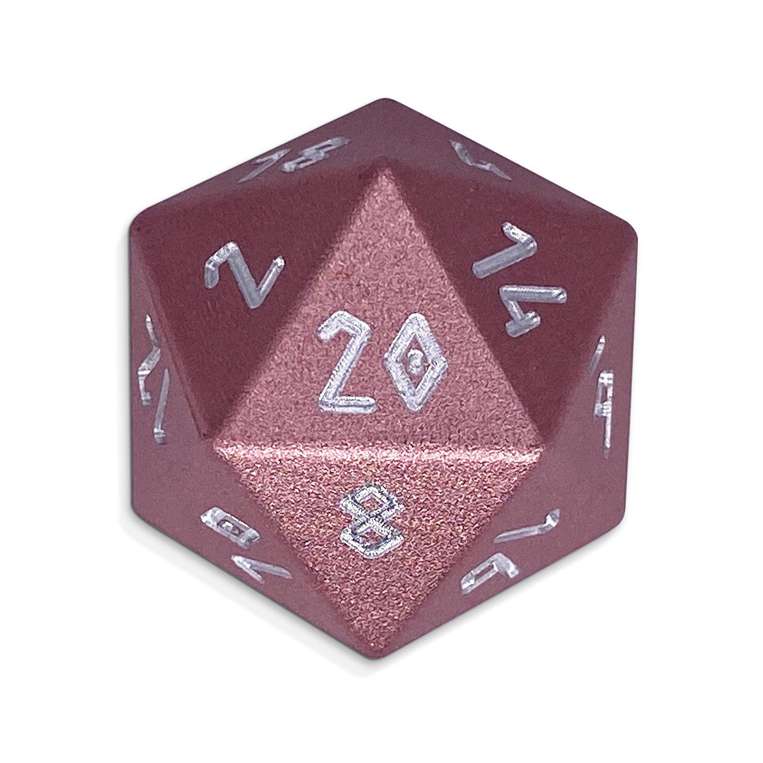 Warlock Pink - Single D20 - Aluminum Dice