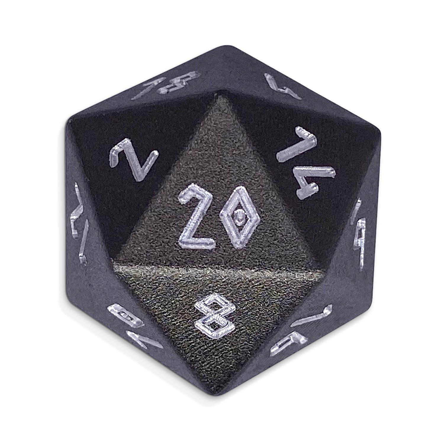 Gargoyle Grey - Single D20 - Aluminum Dice