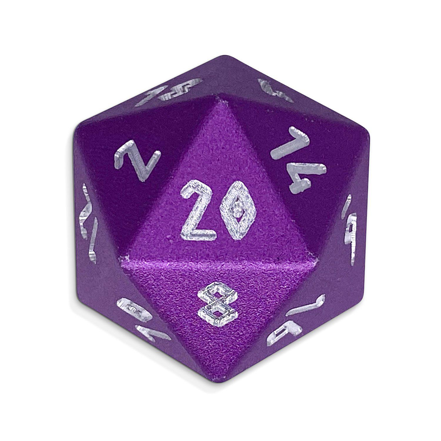 Lich Purple - Single D20 - Aluminum Dice