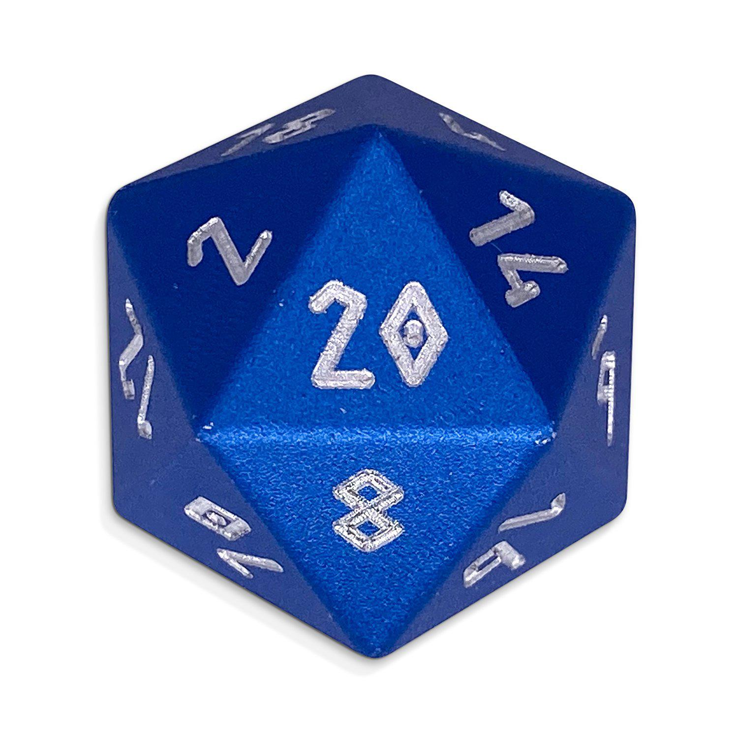 Noble Blue - Single D20 - Aluminum Dice