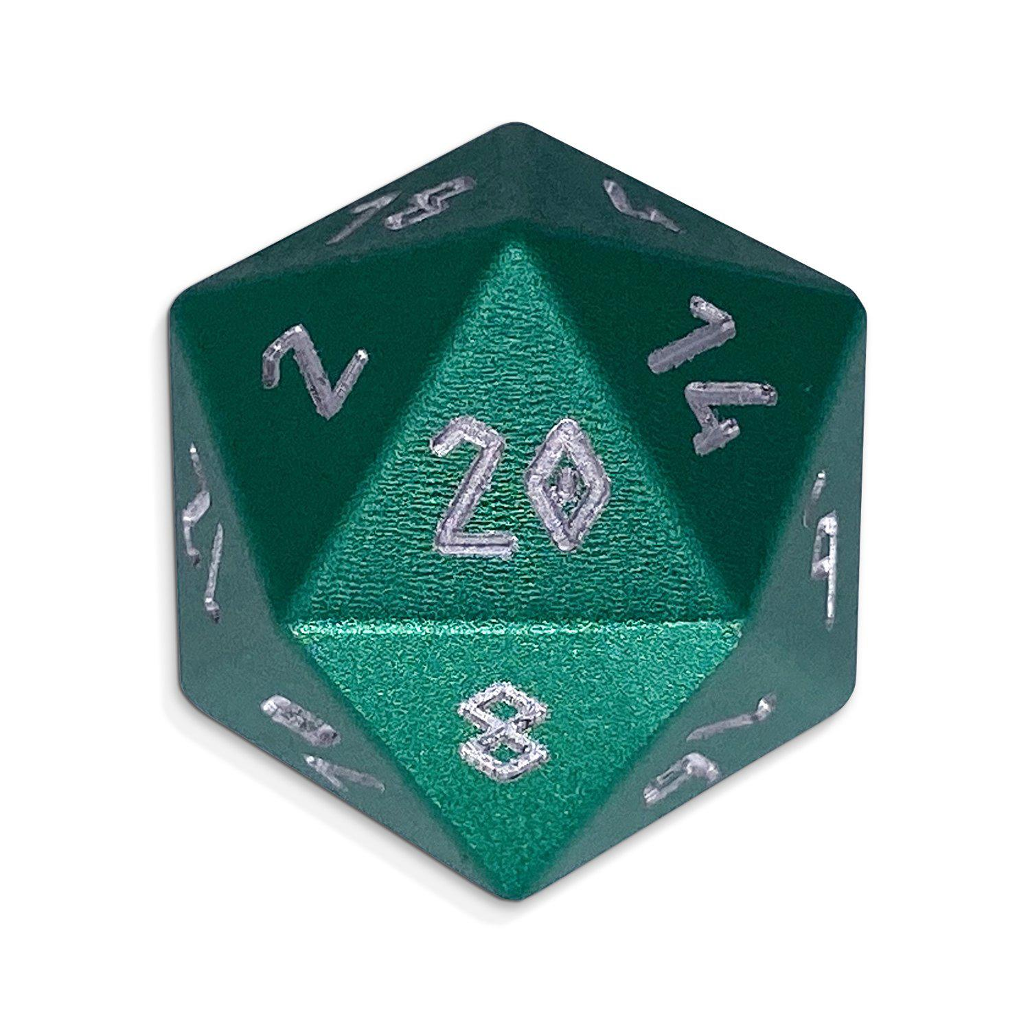 Sea Teal - D20 Single - Aluminum Dice