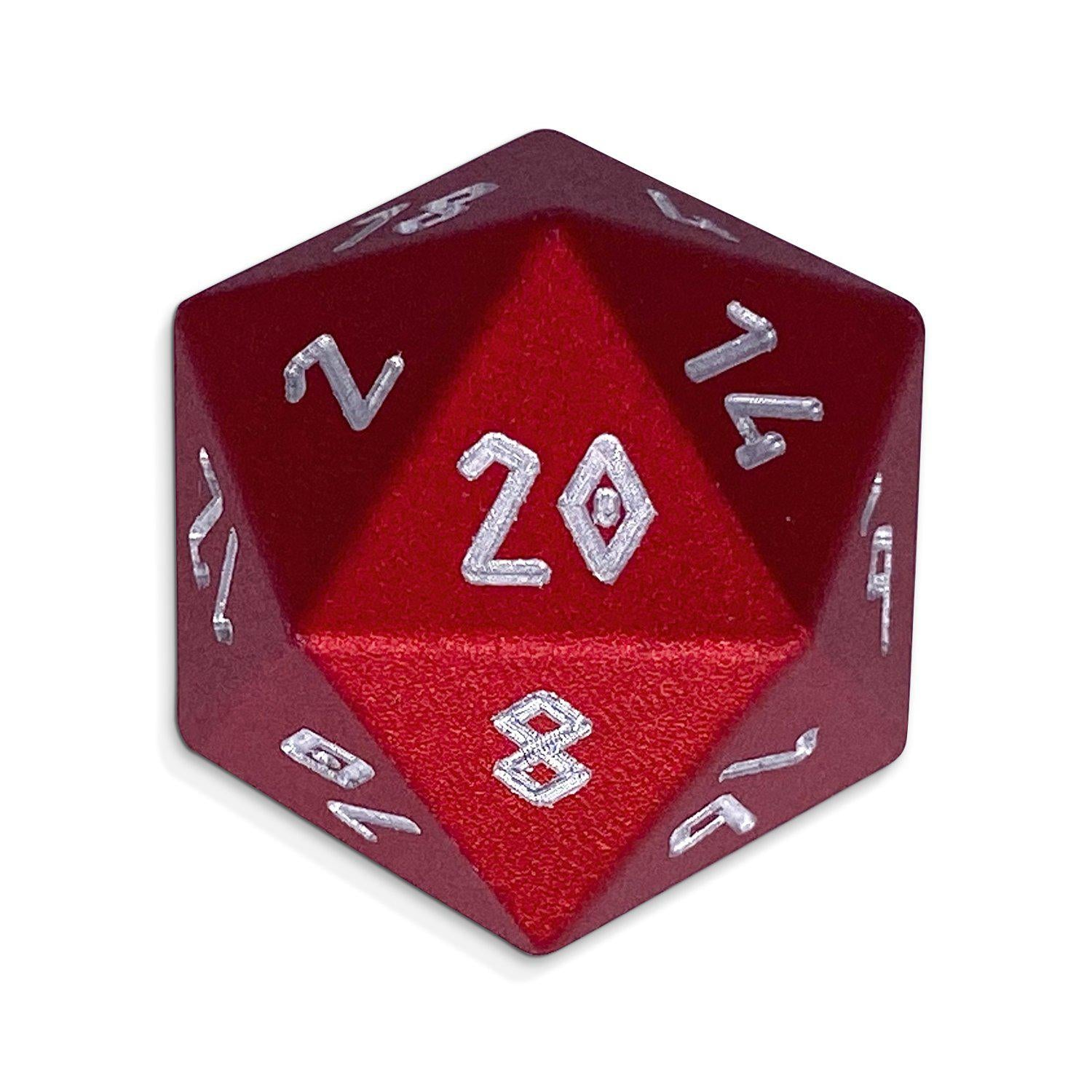 Devil's Red - D20 Single - Aluminum Dice