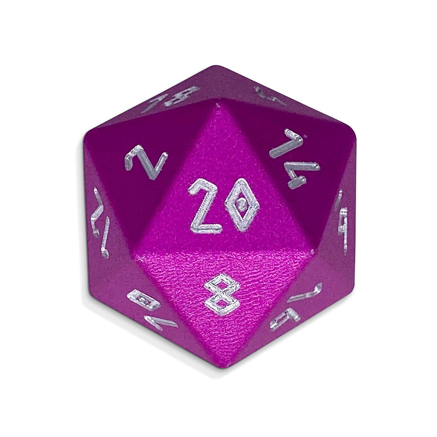 Potion Pink - D20 Single - Aluminum Dice