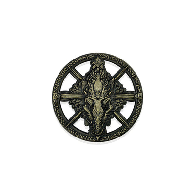 Dragon Compass Rose 50mm Metal
