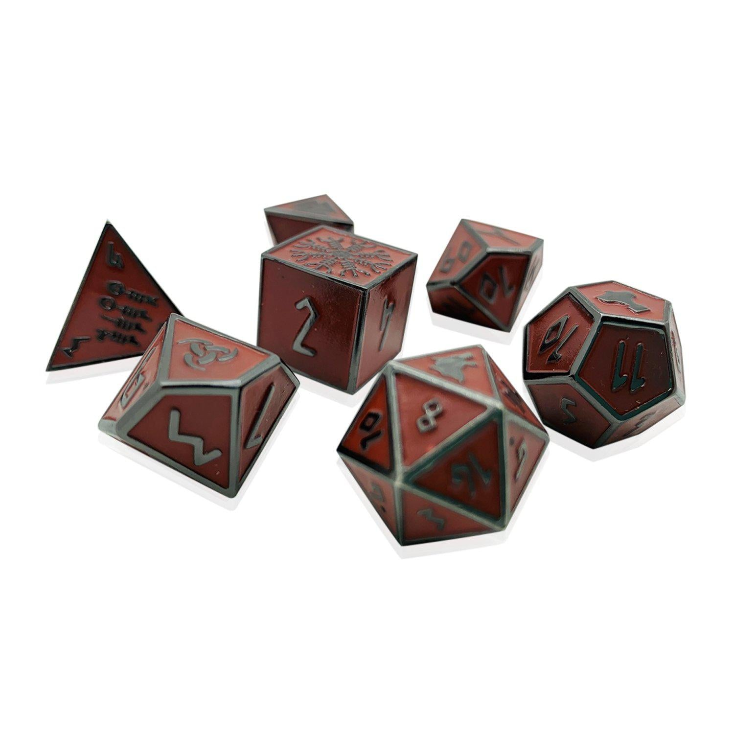 Valkyrie Norse Themed Metal Dice Set