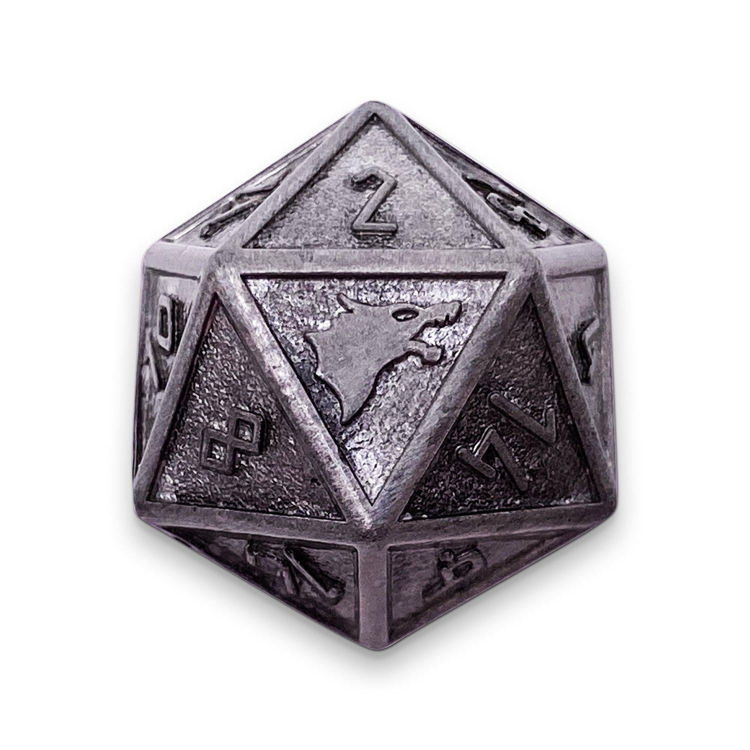 Single Alloy D20 in Plate Mail by Norse Foundry