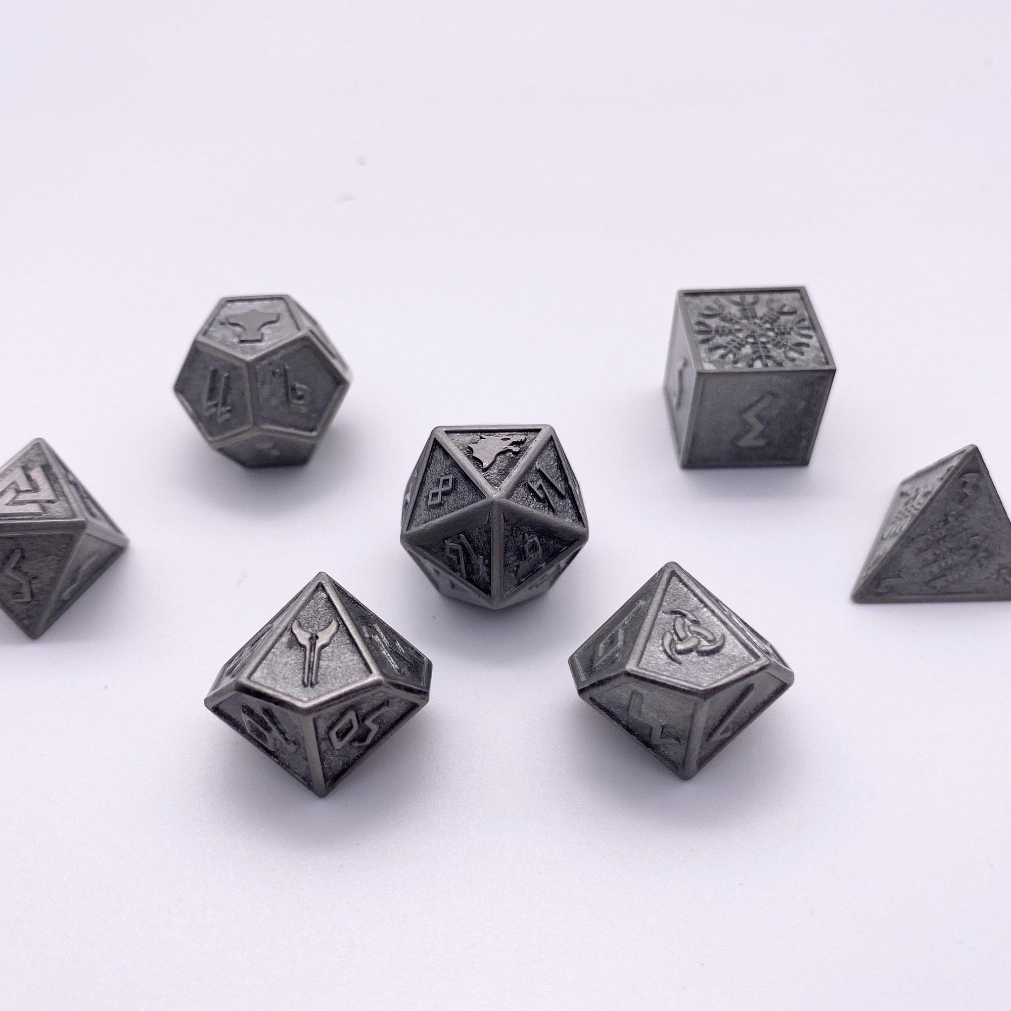 Plate Mail - Norse Themed Metal Dice Set