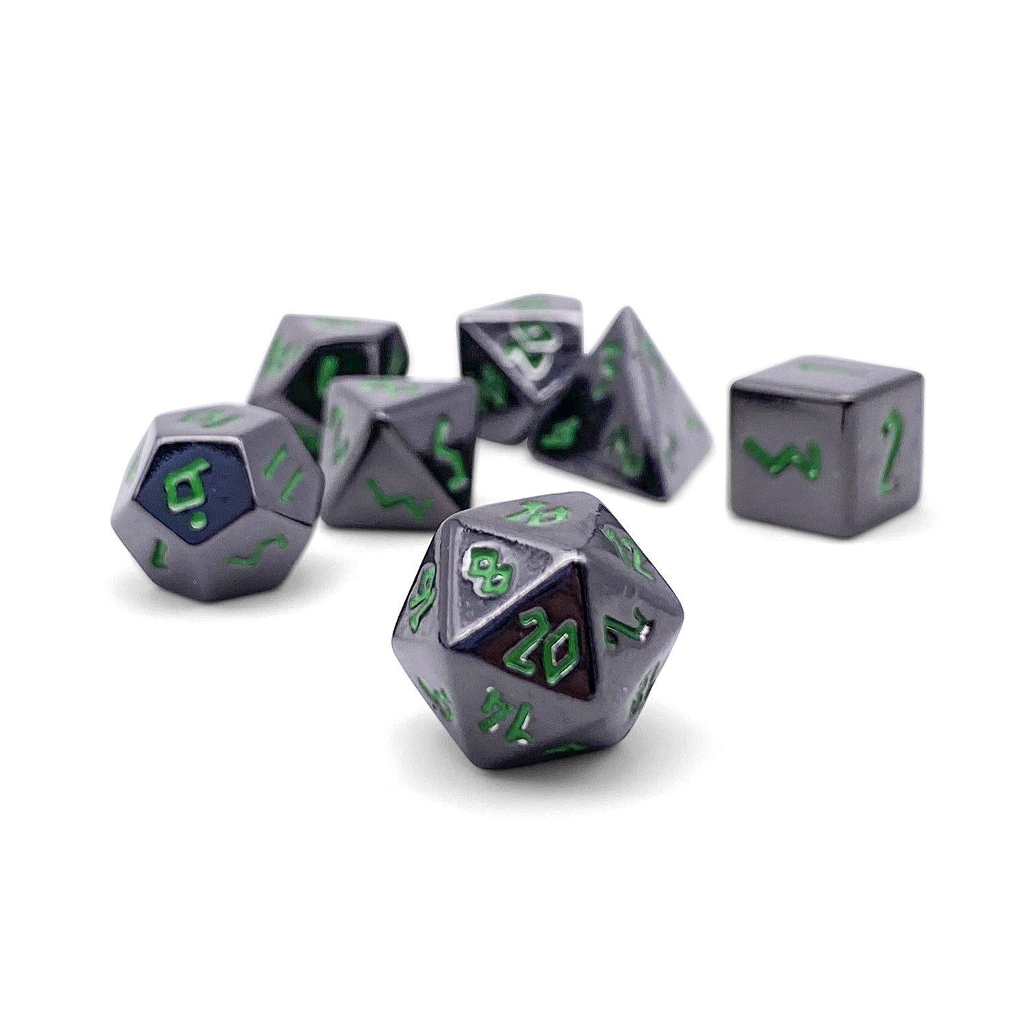 Poisoned Daggers Pebble ™ Dice - 10mm Alloy Mini Polyhedral Dice Set