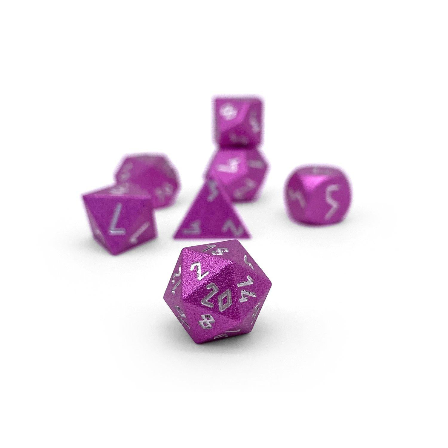 Potion Pink Pebble ™ Dice - 10mm 6063 Aircraft Grade Aluminum Mini