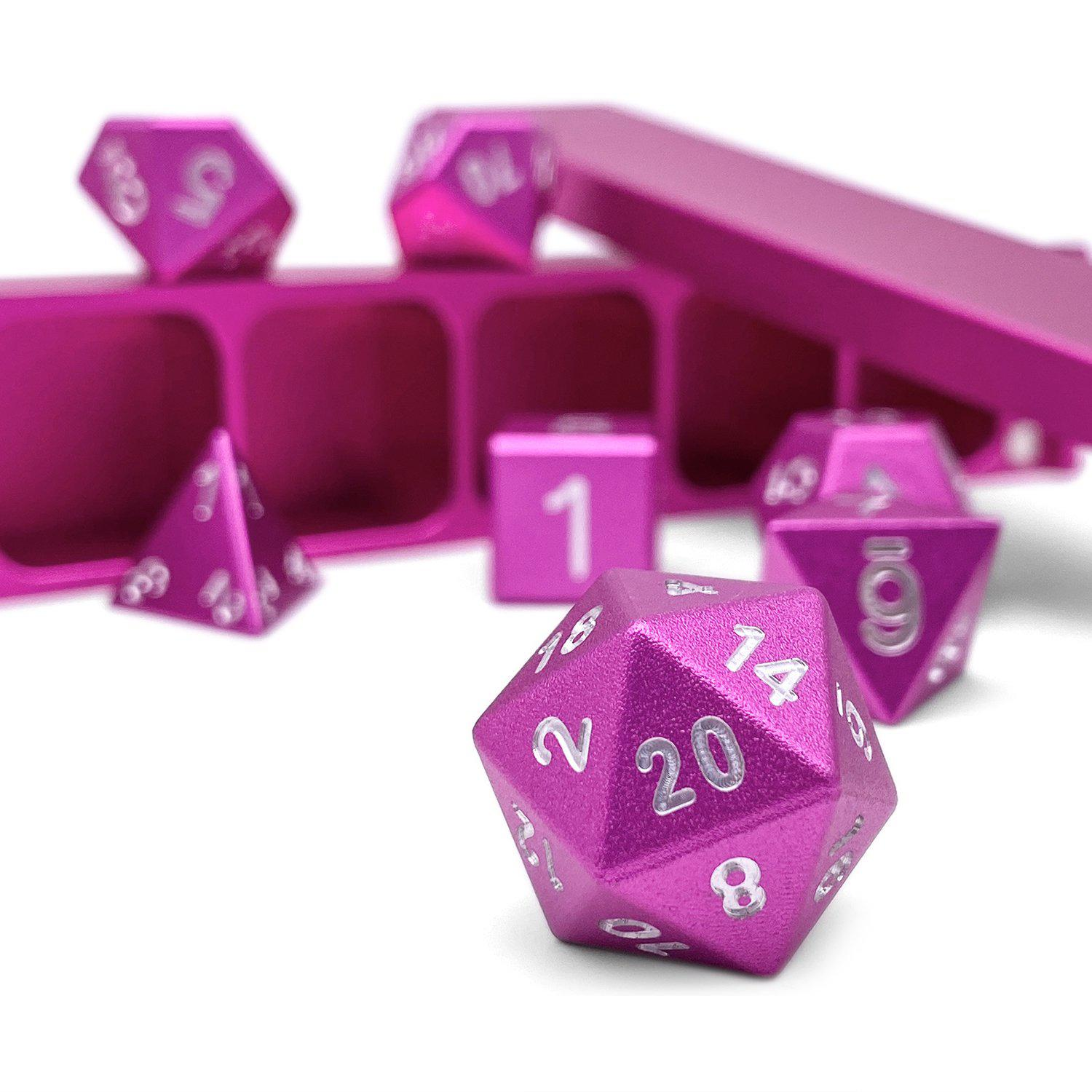 Potion Pink - Precision CNC Aluminum Dice Set with Dice Vault