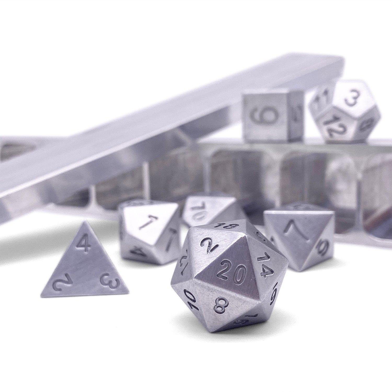 Pure - Precision CNC Aluminum Dice Set with Dice Vault