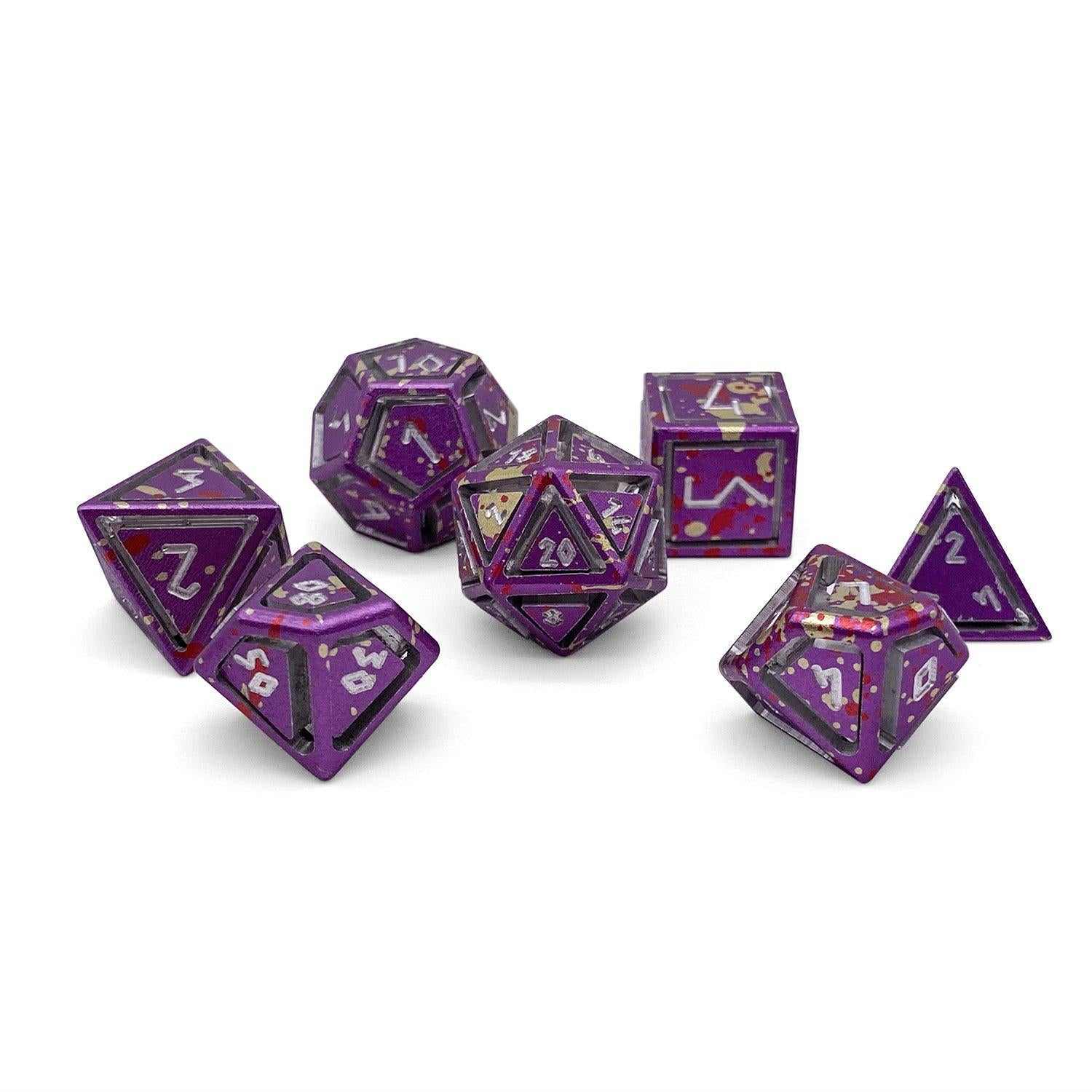Nimbus Wondrous Precision CNC Aluminum Dice Set - Purple Wyrm