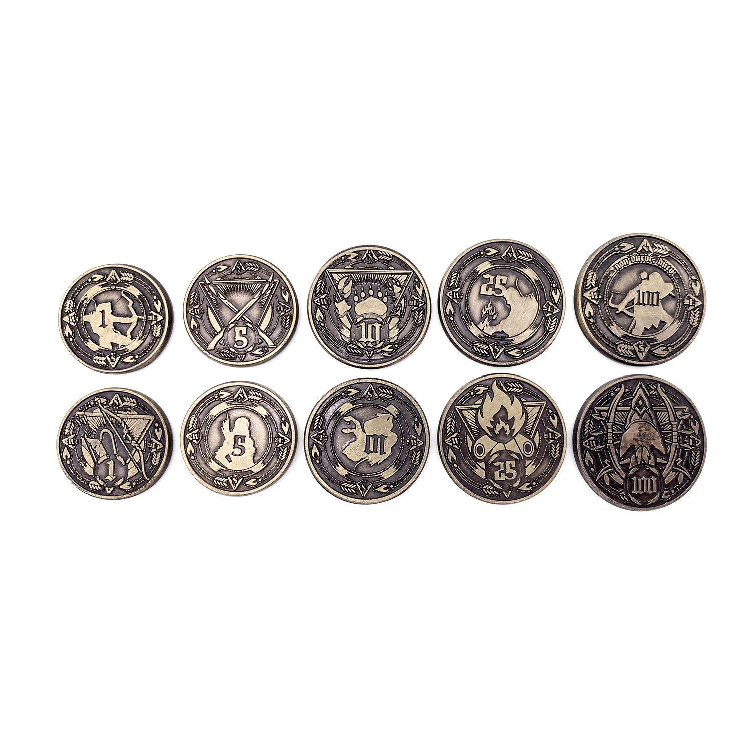 Adventure Coins - Ranger Metal Coins Set of 10