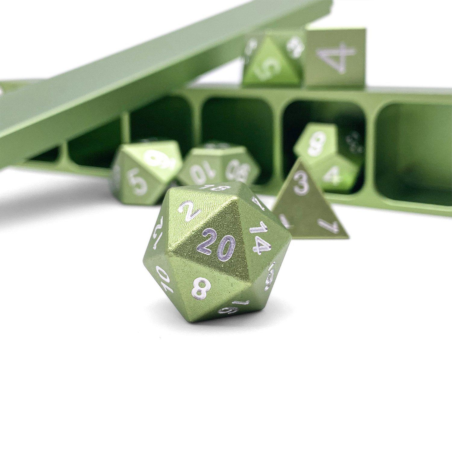 Ranger Green - Precision CNC Aluminum Dice Set with Dice Vault