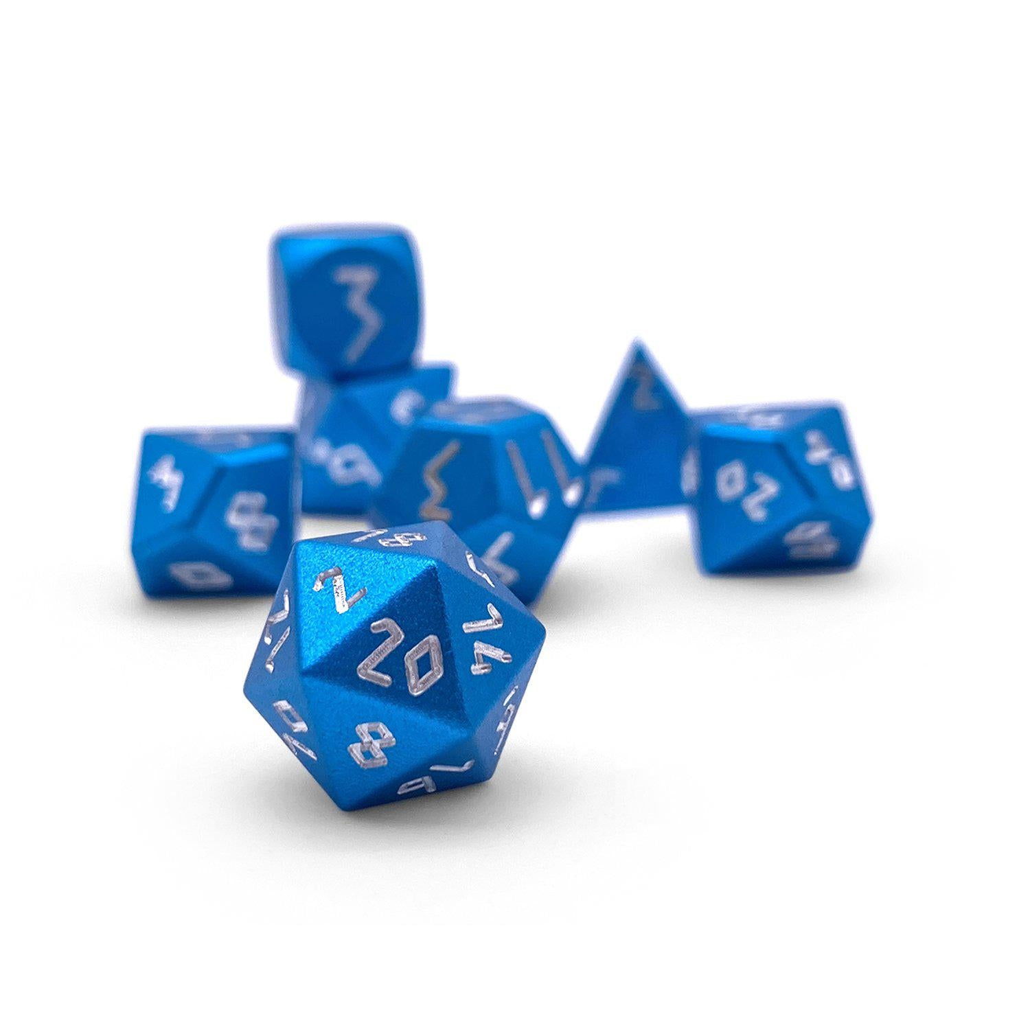 Sea Teal Pebble ™ Dice - 10mm 6063 Aircraft Grade Aluminum Mini