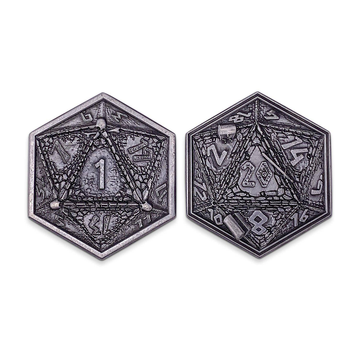 Metal RPG Dungeon Delvers Coin Silver Plated- 45mm