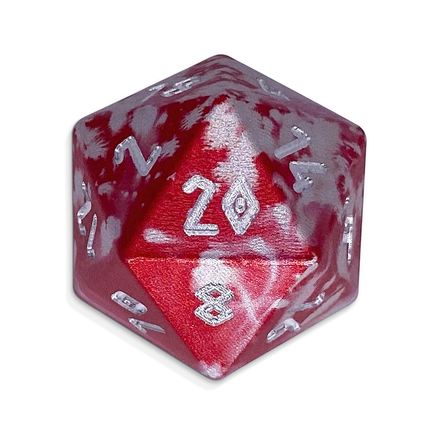 Single Wondrous Dice® D20 in Sneak Attack by Norse Foundry® 6063 Aircraft Grade Aluminum