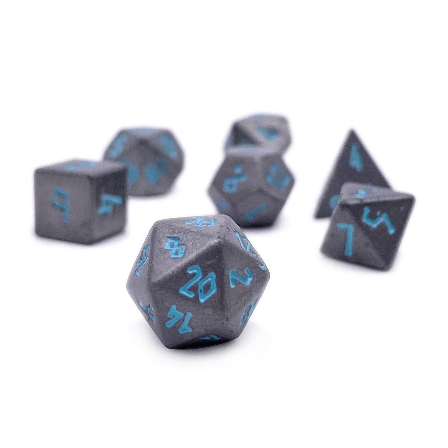 Spellbound Pebble ™ Dice - 10mm Alloy Mini Polyhedral Dice Set