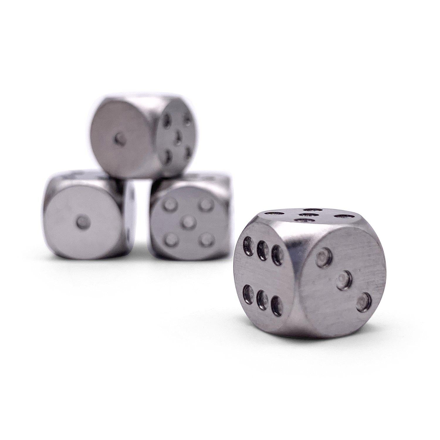 Stainless Steel D6 - Pips Dice